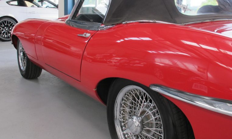1970 E Type Jaguar Side Profile 1