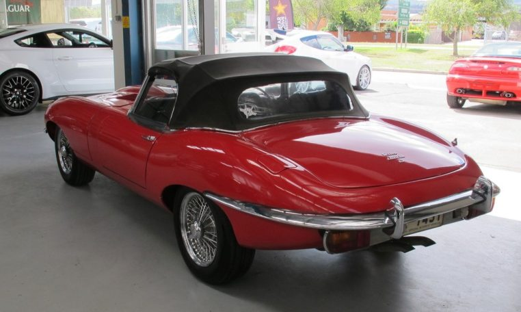 1970 E Type Jaguar Side Profile