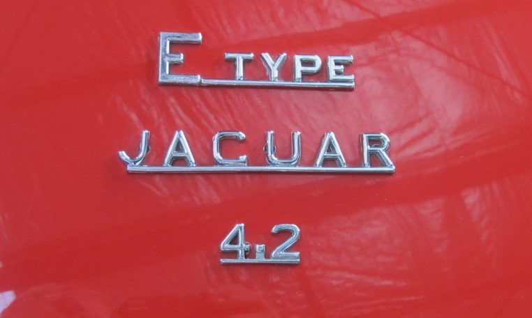 1970 E Type Jaguar 4.2 Litre Badge