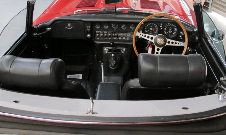 1970 E Type Jaguar Interior Profile