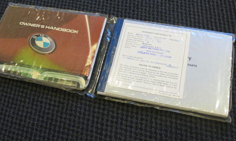 1983 BMW 318i - Owners Handbook
