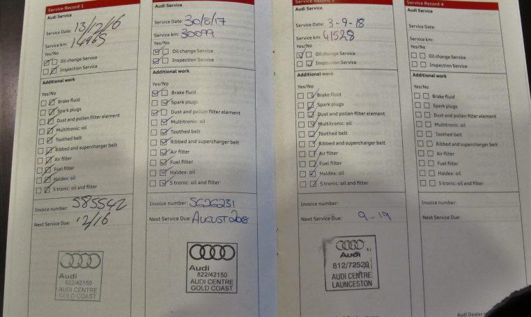 Audi Service Book