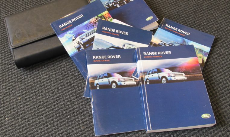 Range Rover Vogue - Owners/Service Books