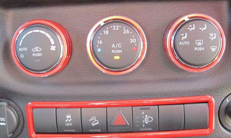 2016 Jeep Wrangler - Heater Controls