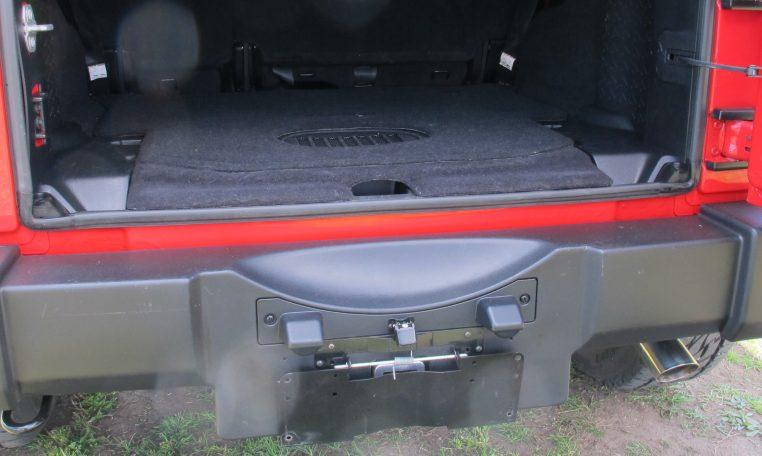 2016 Jeep Wrangler - Boot Area