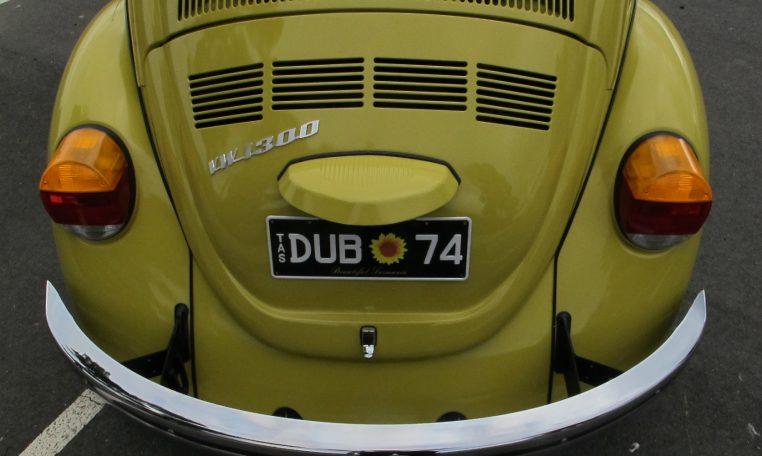 1974 VW Beetle - Rear View